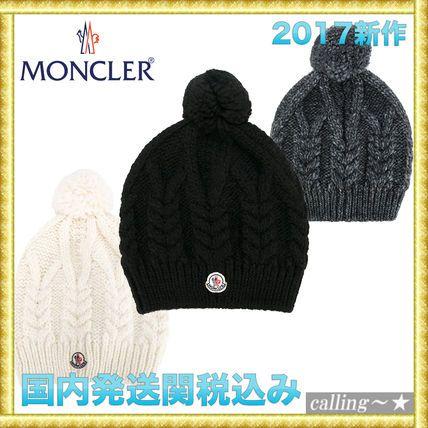 セレブ愛用者多数☆MONCLER☆cable knit beanie