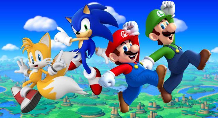 Mario Bros and Sonic Team by Banjo2015