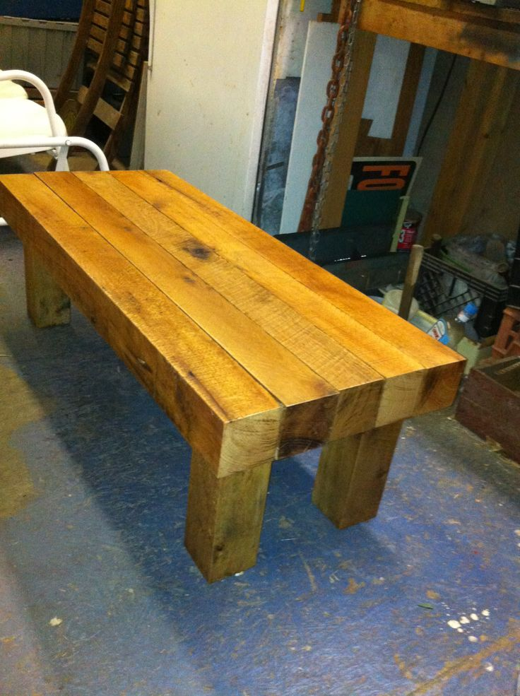 4x4 Coffee Table Scrap Wood Furniture Wood Outdoor