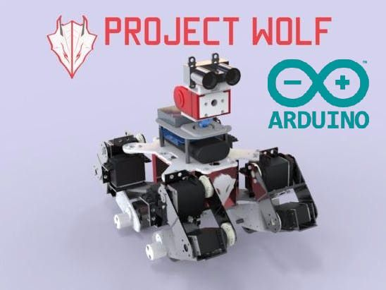 Wolf is an IoT multi-terrain robot running on the Arduino 101 platform.  By Husky Mai.