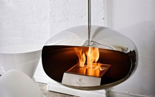 Hanging Fireplace Home Inspiration Pinterest