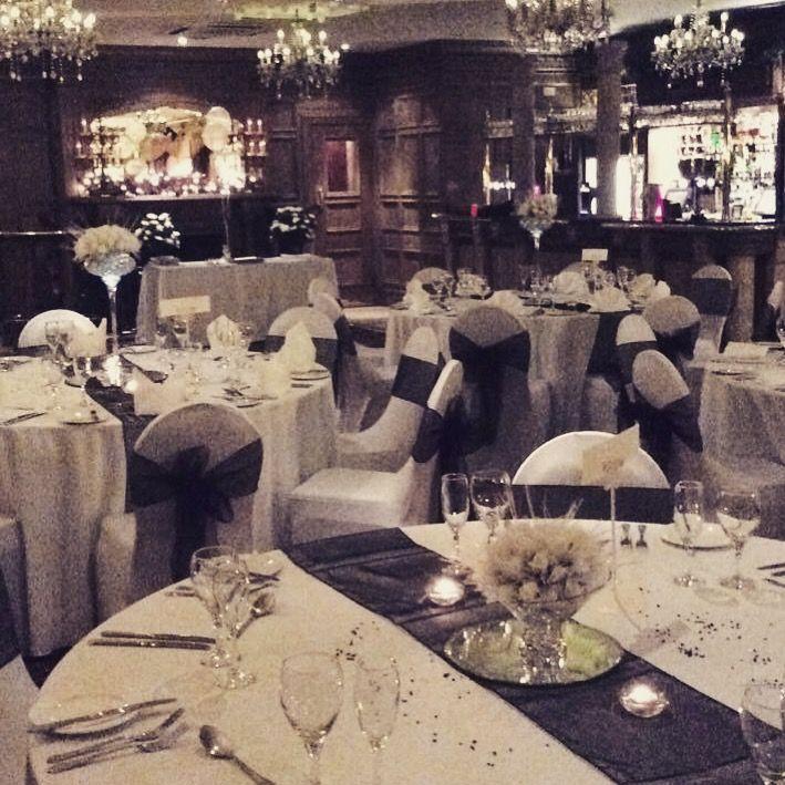 Dark Blue Wedding Reception In Our Self Contanied Venue The Rhydding Suite