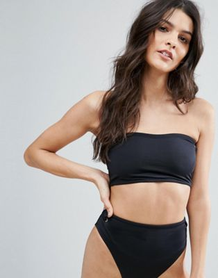 ASOS Mix and Match Clean Bandeau Bikini Top with Eyelets