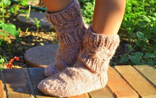 Wanderlust Knits- Sumo Slipper-  Knitted Sock East and West