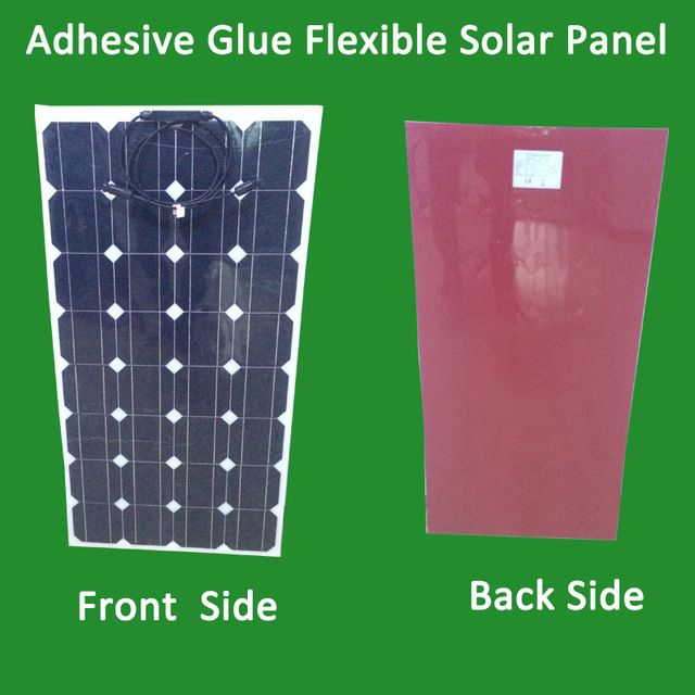 1pcs Newly 120w Flexible Pv Solar Panel With Adhesive Glue Itself 12v Solar Cell Module System Rv Car Boat Ya Solar Pv Panel Flexible Solar Panels Solar Panels