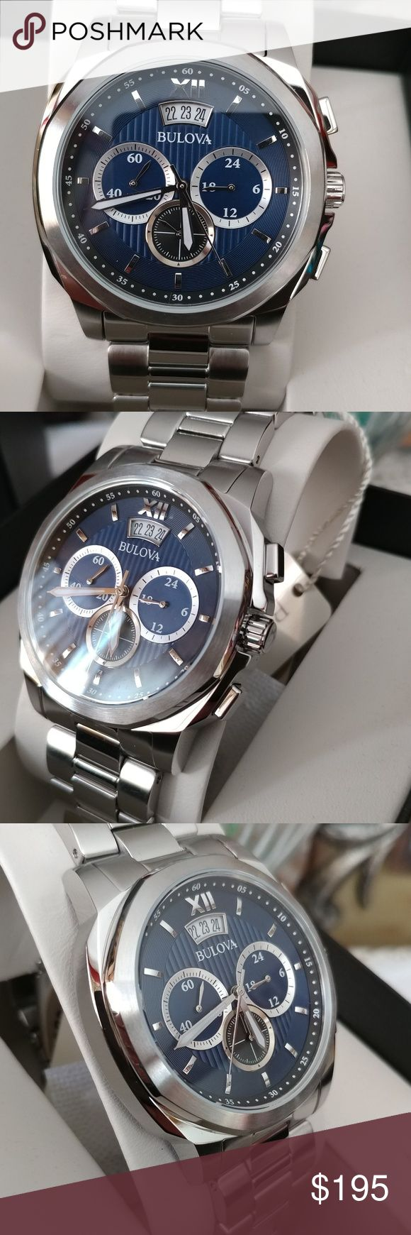 New Bulova Mens Chronograph New Stainless Steel Chronograph Quartz Comes with box and manual Accessories Watches