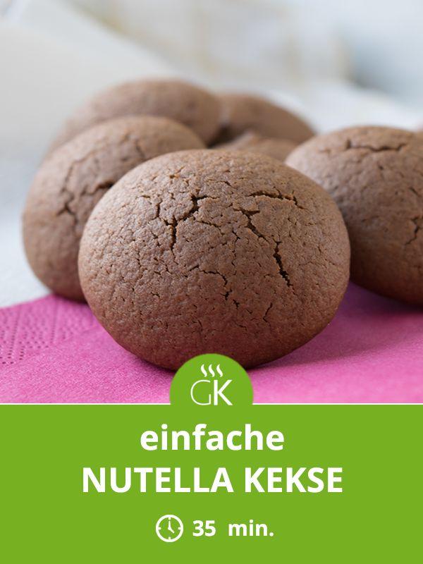 Kinder lieben diese Nutella Kekse. Ein köstliches Rezept, wenn ihre Kinder kleine Zuckerbäcker werden wollen.  #Kekse #Plätzchen #Nutella #Rezept #Backen #Weihnachten #Weihnachtskeske