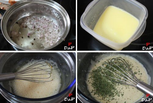 Elaboración de la salsa bearnesa