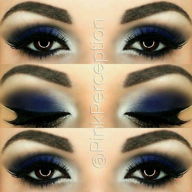 Navy blue eyes