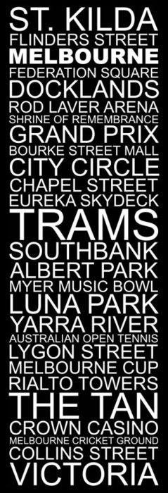 Melbourne Destination print