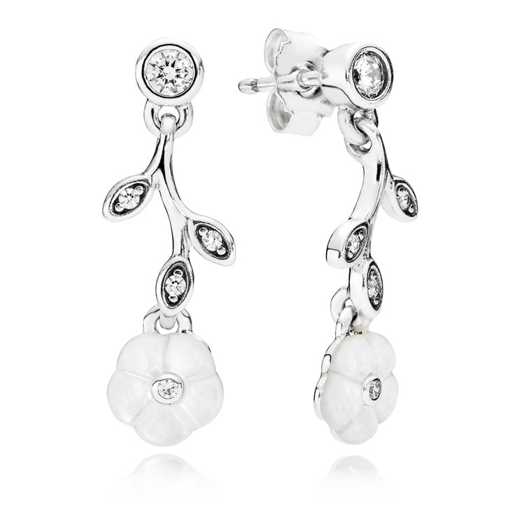Luminous Florals Drop Earrings - Pandora UK | PANDORA eSTORE
