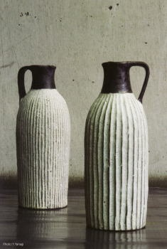 Akio Nukaga- carved pitchers