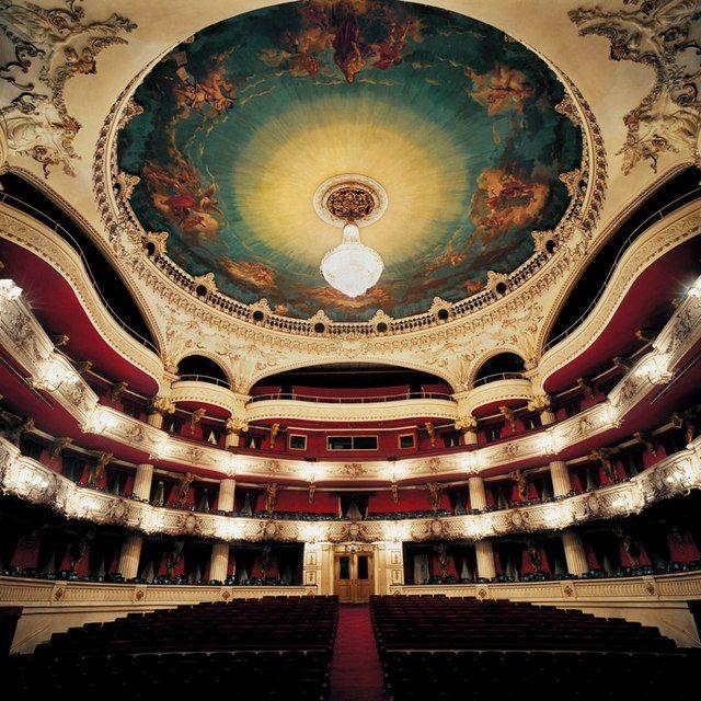 Panorámica de la sala principal Teatro Municipal de Santiago de Chile, una verdadera maravilla