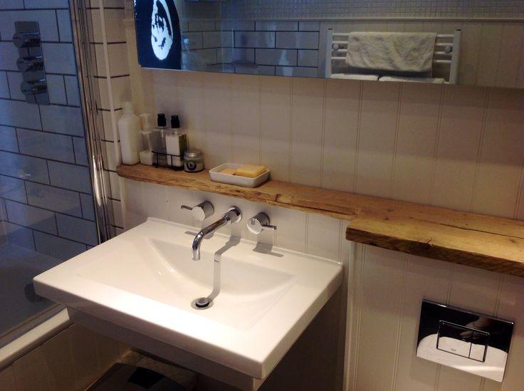 Scaffold board shelf for the bathroom..love it..