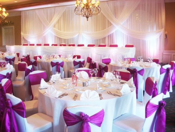 Chicago Reception Decoration Wedding Black Blue Brown Ceremony Chair Covers Rental Chicago