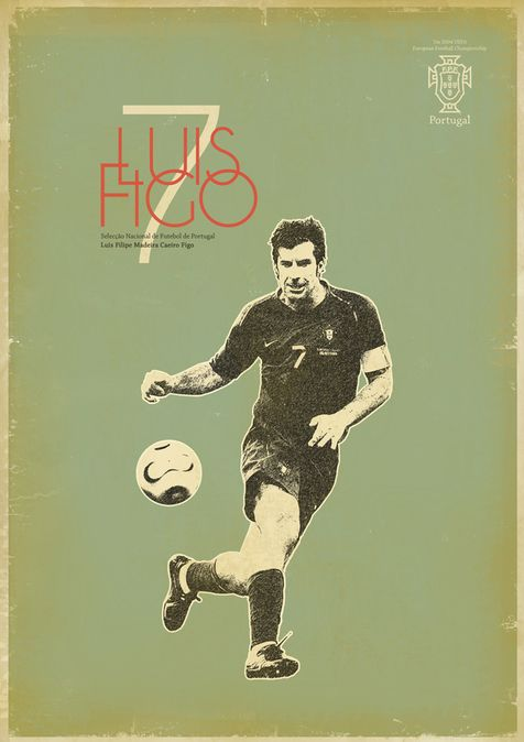 A serie of retro soccer posters.