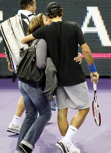 My favorite tennis couple, Roger and his wife Mirka. <3