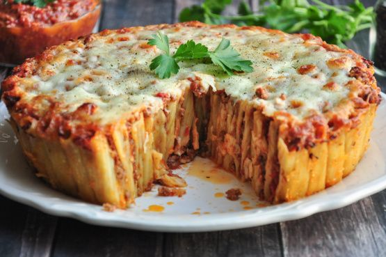 Make and share this Rigatoni Pasta Pie (Martha Stewart) recipe from Food.com.