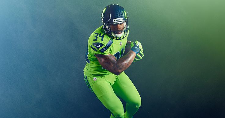 Introducing the Seahawks 2016 NFL Color Rush uniforms: Action Green.  As…