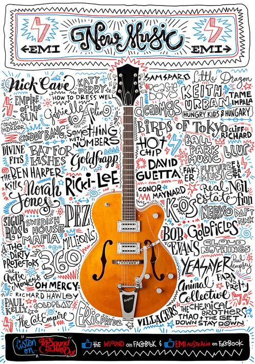 #debaser #emi #music #poster