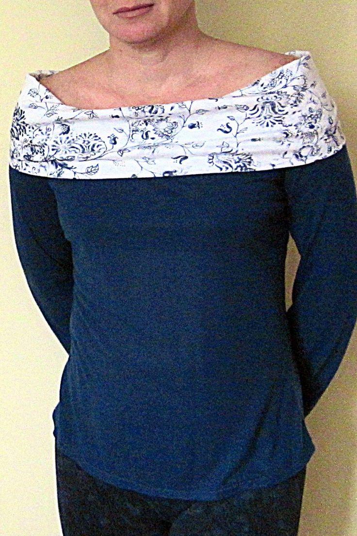 Confección blusa Cuello Bote mangas largas | EL BAÚL DE LAS COSTURERAS