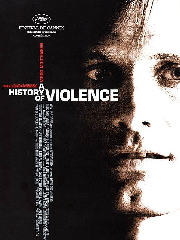 A History of Violence est un film de David Cronenberg avec Viggo Mortensen, Maria Bello. Synopsis : Tom Stall, un père de famille à la vie paisiblement tranquille, abat dans un réflexe de légitime défense son agresseur dans un restaurant. Il devient