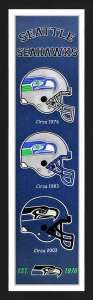 Framed Seattle Seahawks Heritage Banner.