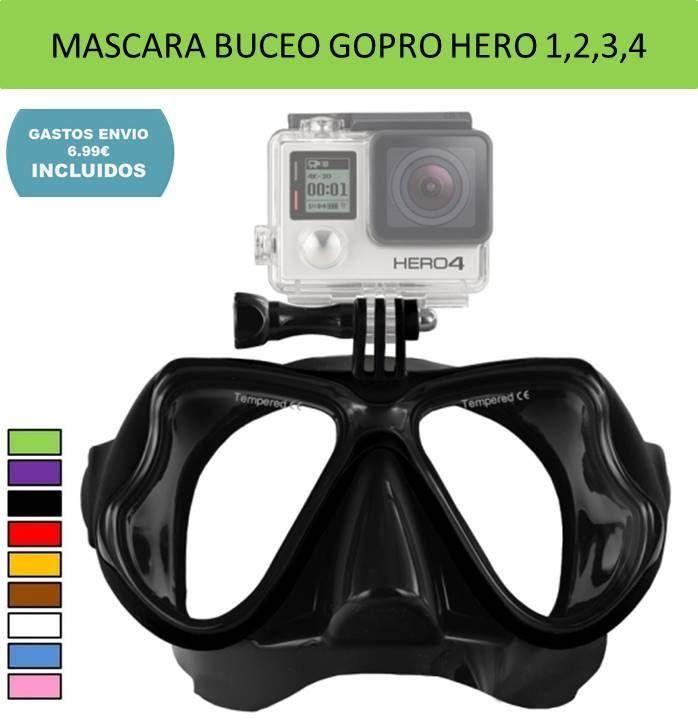 Accesorio camara deportiva GoPro: gafas buceo submarinismo