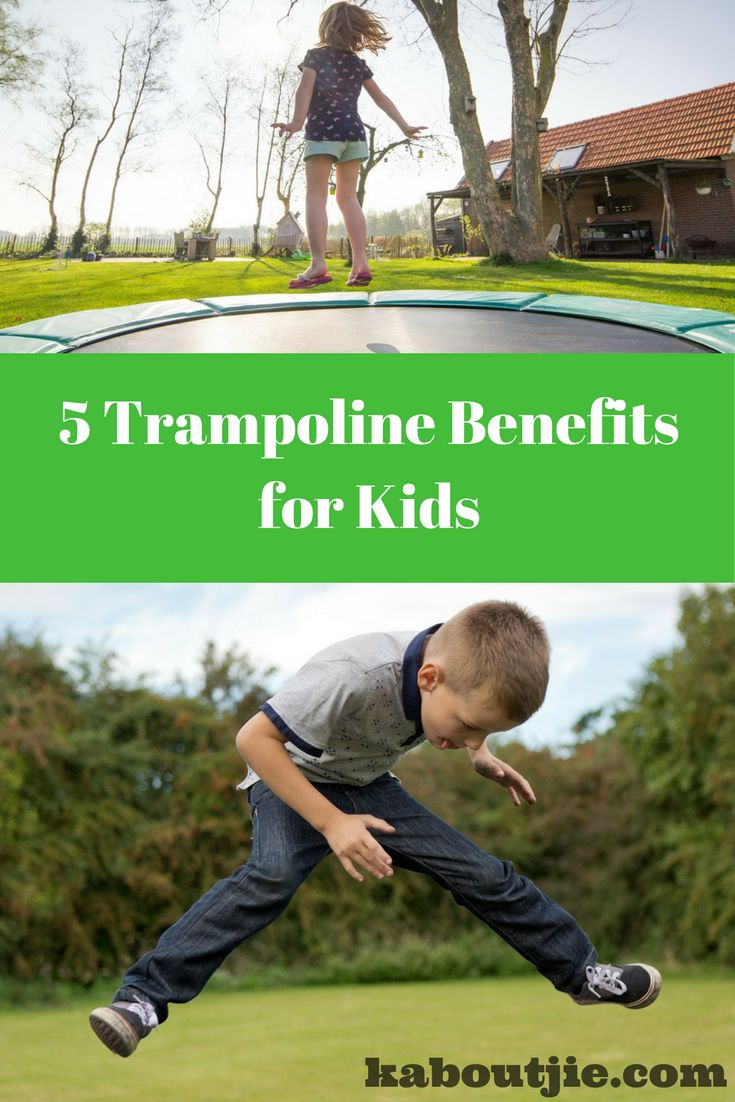 Trampolines are great fun for kids, plus they actually come with a load of other benefits for your kids too!  Here are 5 trampoline benefits for kids that you should know about:  #Trampolines #TrampolineBenefits #TrampolineBenefitsForKids