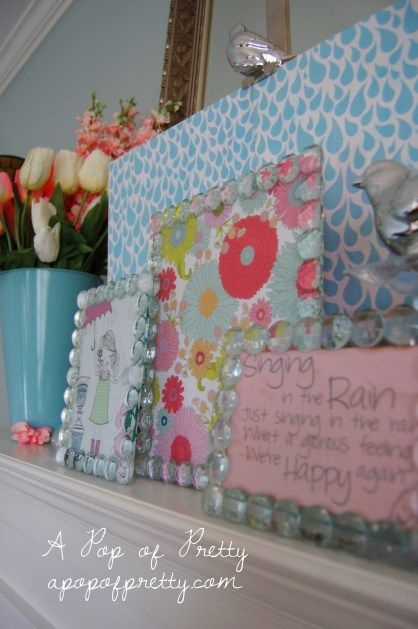 How To Decorate Seasonally: Use Framed Scrapbook Paper