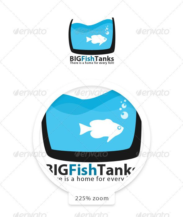 """Big Fish Tanks  #GraphicRiver         Big Fish Tanks, is a fully layered / editable logo template. All shapes and text layers can be easily modified. The colors can be easily changed by accessing the """"Blending Options"""" from the layer proprieties bar. The logo is suitable for any web or print purpose.  Technical Information:   PSD file with 100% vector editable shapes (NO raster elements)  2500×2500px canvas  2400×2400px logo dimensions  Fonts used: Myriad Pro – Available from  .adobe…"""
