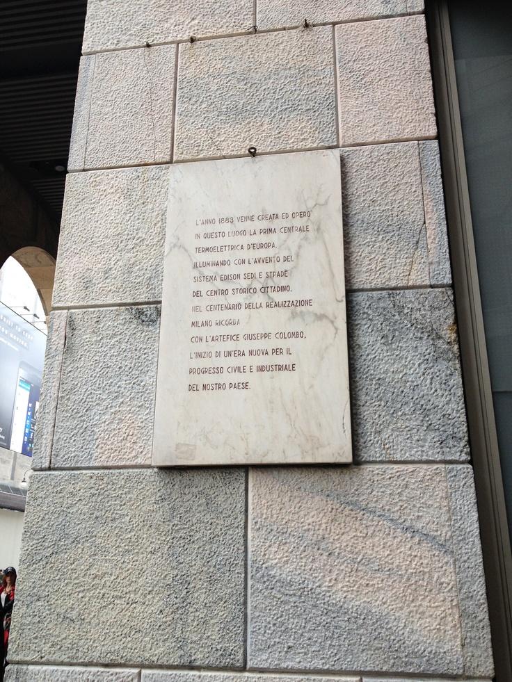La prima centrale termoelettrica d'Europa - via S. Radegonda, Milano