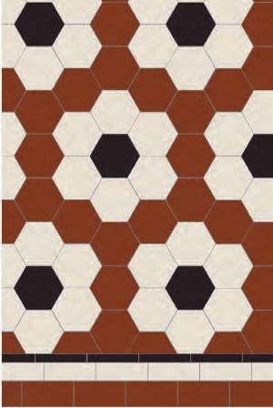 Victorian Floor Tiles Stratford Hexagonal Pattern