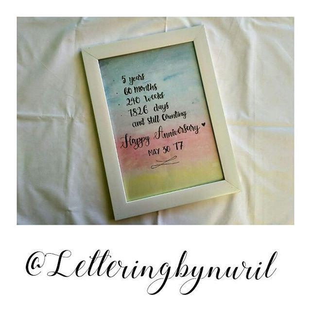 OPEN ORDER CUSTOM LETTERING! ✔100% handmade ✔ include frame (hitam/putih) ✔ estimasi pembuatan 2-3 hari Cocok untuk dekorasi kamar, hadiah ulang tahun, anniversary, graduation, wedding, dll. . Untuk pemesanan silahkan hubungi kami  Line : nuril_acr Wa : 081394879935 #handlettering #lettering #letteringart #bandunghandlettering #birthdaylettering #graduationlettering #weddinglettering #anniversarylettering #art #caligraphy #hadiahulangtahun #birthdaygift #weddinggift #anniversarygift…