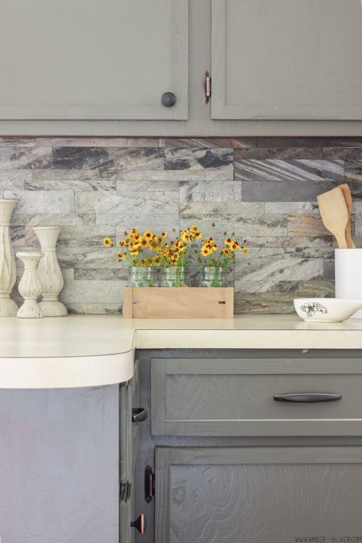 B82944 kitchen cabinets diy kitchens - Diy Backsplash How To Install Peel And Stick Backsplash