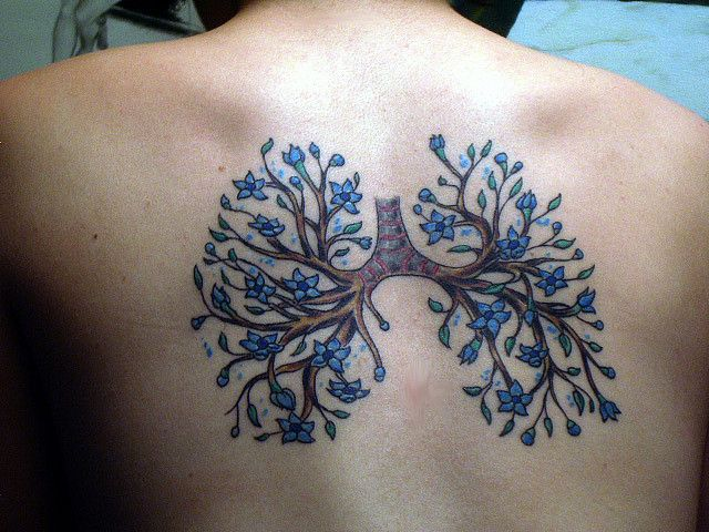 Cute idea. Instead of lungs, it has branches with flowers.