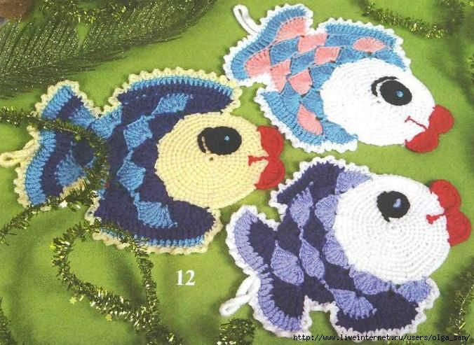 Free Crochet Fish Potholder Pattern : fish potholders! - free crochet diagram and google ...