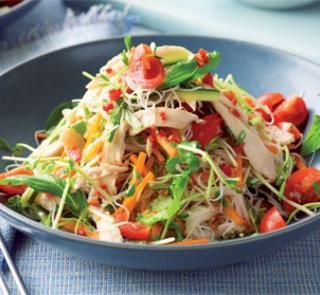 Sweet chilli chicken and noodle salad