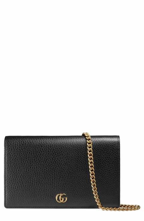 2ee694031e01 Gucci Petite Marmont Leather Wallet on a Chain | Wish list | Pinterest |  Crossbody bags, Gucci and Nordstrom