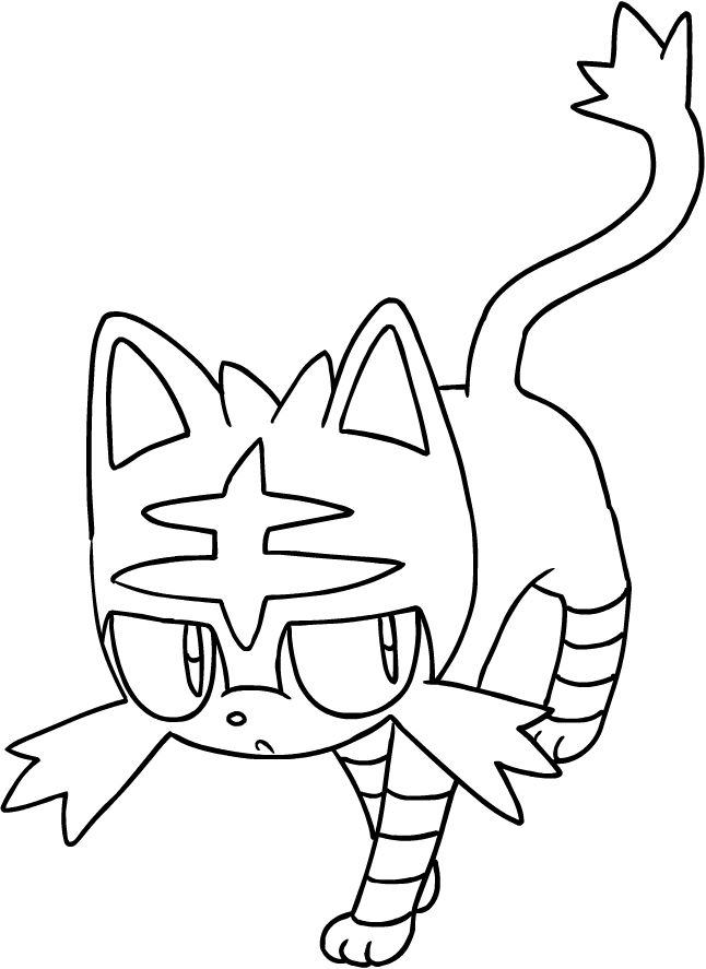 Drawing Litten Of The Pokemon Sun And Moon Coloring Pages Printable For Kids Moon Coloring Pages Pokemon Coloring Pages Pokemon Coloring
