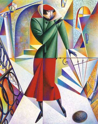 Georgy Kurasov ~ Cubist painter