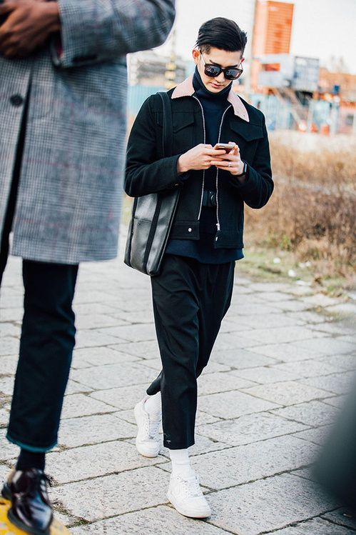 Fashion Week homme Street looks Milan automne hiver 2016 2017 39