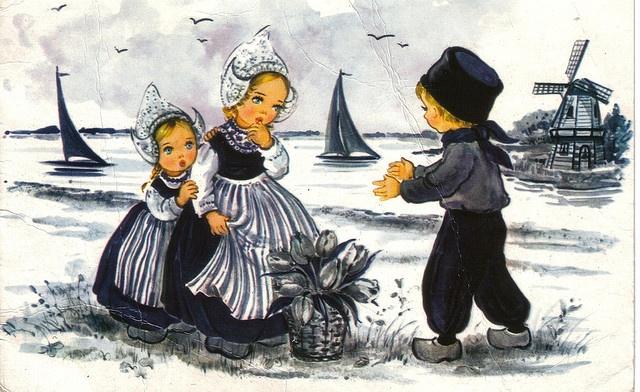 Old Dutch Postcard