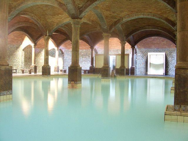 Underground hot springs Termas de San Joaquin, Coahuila, Mexico