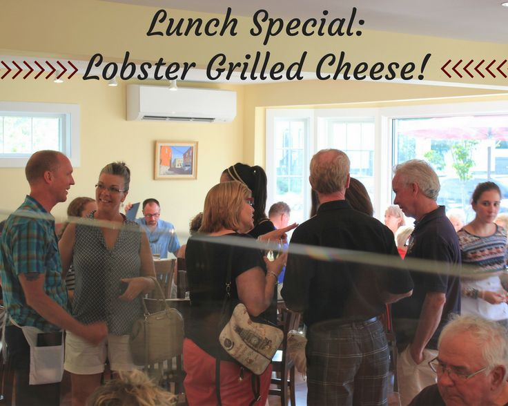 Our famous Lobster Grilled Cheese is on the menu today! Apple wood smoked bacon, sliced tomatoes, cheddar cheese, and Audrey's fries. #LilliansCafe #Niantic #EatLocal