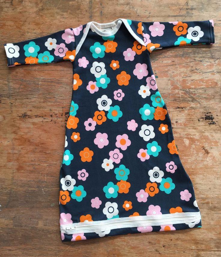 Baby Sleeping Bag Organic Cotton Flower Power | Thunderpants NZ
