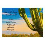 Desert Cactus Casual Wedding Menu Cards