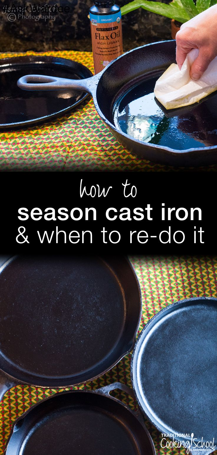 Cast iron is my top pick for non-stick cooking. It's easy to care for your cast iron, too. Watch, listen, or read for my tips on the BEST cast iron seasoning, plus how to know when to re-season cast iron! | AskWardee.tv