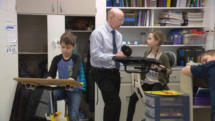 A physical education teacher has led an initiative to bring exercise bikes into multiple Saskatoon classrooms.