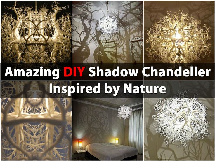 Amazing Diy Shadow Chandelier Inspired By Nature Crafts